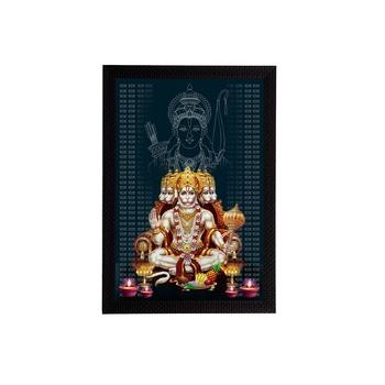 eCraftIndia Panch Mukhi Lord Hanuman Satin Matt Texture UV Art Painting