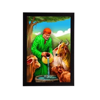 eCraftIndia Sai Baba Satin Matt Texture UV Art Painting