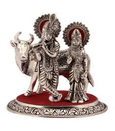 Buy Radha Krishna Statue with Cow thanksgiving-gift online