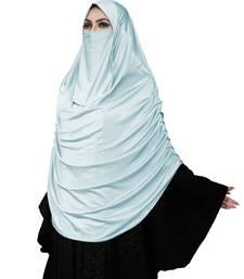 Women Satin Lycra Plain Long Chaderi Abaya Hijab With Naqab & Frills Style