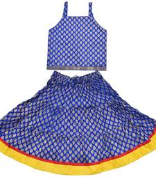 DIAMO Girls' Jaipuri Rajasthani Hand Block Print Ethnic Wear Pure Cotton Lehenga Choli(Skirt & Top)