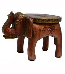 Wooden Elephant Stool for Decoratives