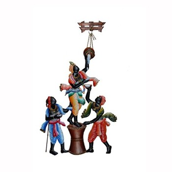 Wall Hanging of Makhan Chor with Friends