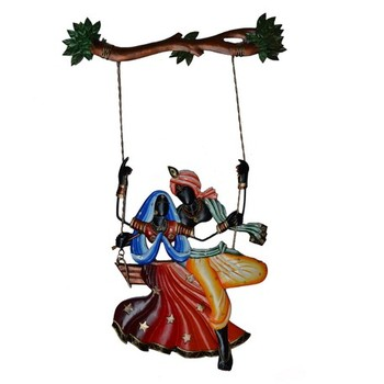 Radha Krishna on Swing Wall Hanging