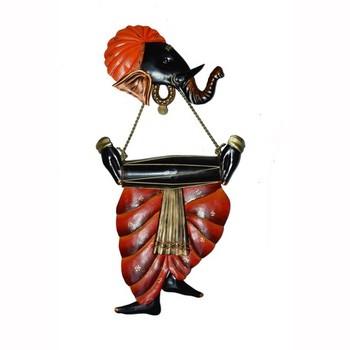 Lord Ganesha playing Dholak Wall Hanging