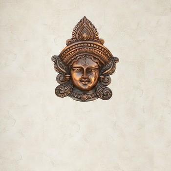 Metal Goddess Durga Wall Hanging