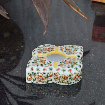 Florid Marble Ash Tray