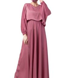 Musheco-Attached Cape Style Abaya In Nida Fabric