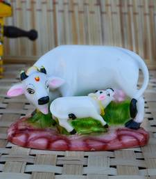 Buy Polyresin Colorful Cow and Calf Statue new-year-gift online