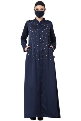 Musheco-Modest Dress With Hand Work Embellishments