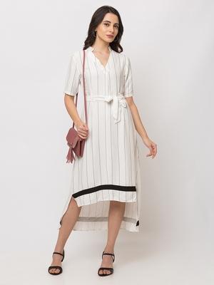 Sheczzar WHITE Color Regular fit Midi Dress