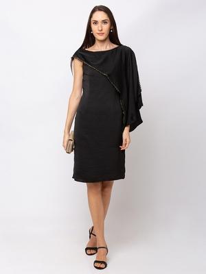 Sheczzar BLACK Color Regular fit Midi Dress