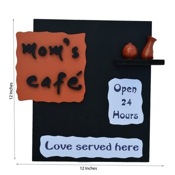Wooden Mom's Cafe Wall Hanging