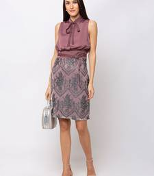 Sheczzar Cherry Color Regular fit Midi Dress