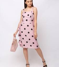 Sheczzar Pink Color Regular fit Midi Dress
