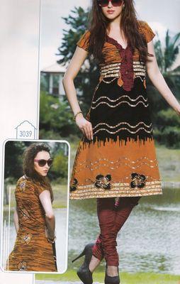 Elegant Cotton Dress Material With Chiffon Dupatta Unstitched Salwar Suit D.No 3039
