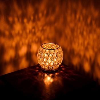 Love Moments Oval Shape Crystal Tea Light Holder