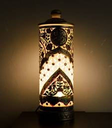 Buy Glittering Floral Design Marble Lamp table-lamp online