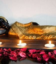 Buy Divine Reclining Buddha Tea Light Holder - Golden congratulation-gift online