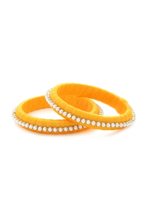 Girls Gold Pearl Chain Silk Thread Bangle