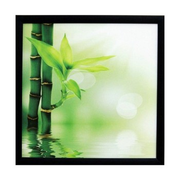 3D Beautiful Plant Design Satin Matt Texture Framed UV Art Print