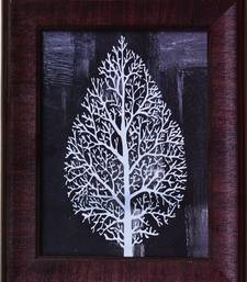 Buy Decorative Leaf Satin Matt Texture Framed UV Art Print painting online