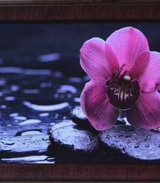 Buy Beautiful Purple Flower Satin Matt Texture Framed UV Art Print painting online
