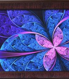 Buy Purple Leaf Design Satin Matt Texture Framed UV Art Print painting online
