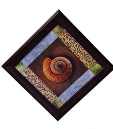 Buy Shell Design Satin Matt Texture Framed UV Art Print painting online