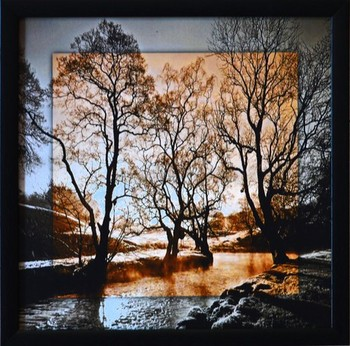 Scenary View Satin Matt Texture Framed UV Art Print