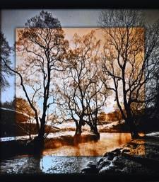 Scenary View Satin Matt Texture Framed UV Art Print
