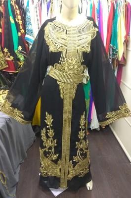 TRADITIONAL ARABIC MAXI DRESS FARASHA MOROCCAN MAXI TEA PARTY BOHO TURKISH EMBROIDERY CAFTAN_0103