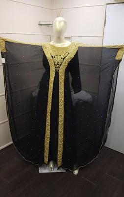 TRADITIONAL ARABIC MAXI DRESS FARASHA MOROCCAN MAXI TEA PARTY ABAYA TURKISH EMBROIDERY CAFTAN_1347