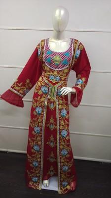 TRADITIONAL ARABIC MAXI DRESS FARASHA MOROCCAN MAXI TEA PARTY TURKISH EMBROIDERY CAFTAN_2444