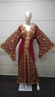 TRADITIONAL ARABIC MAXI DRESS FARASHA MOROCCAN MAXI TEA PARTY ABAYA TURKISH EMBROIDERY CAFTAN_4625