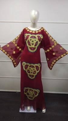 TRADITIONAL ARABIC MAXI DRESS FARASHA MOROCCAN MAXI TEA PARTY ABAYA TURKISH EMBROIDERY CAFTAN_5041