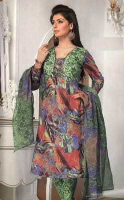 Cotton Dress Material Elegant Designer Unstitched Salwar Suit D.No 3180