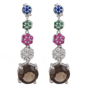 Silver quartz 925-sterling-silver-earrings