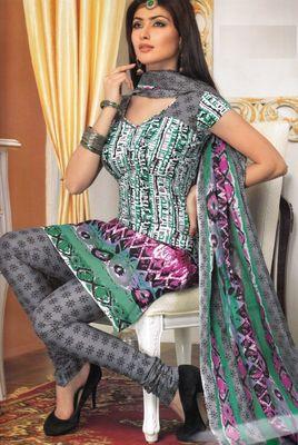 Cotton Dress Material Elegant Designer Unstitched Salwar Suit D.No 3184