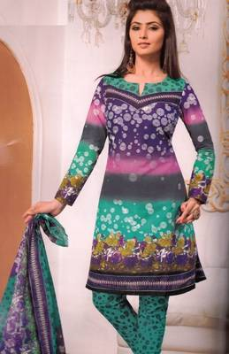 Cotton Dress Material Elegant Designer Unstitched Salwar Suit D.No 3187