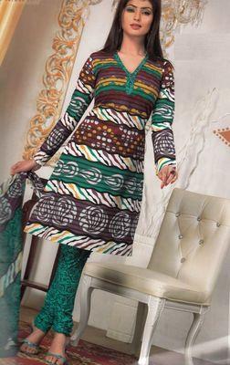 Cotton Dress Material Elegant Designer Unstitched Salwar Suit D.No 3190