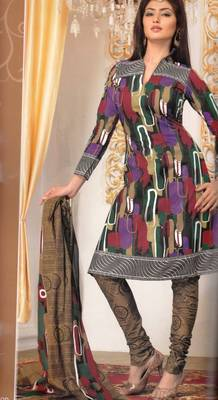 Cotton Dress Material Elegant Designer Unstitched Salwar Suit D.No 3195