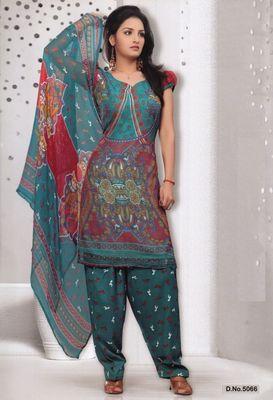 Dress Material Elegant French Crepe Printed Unstitched Salwar Kameez Suit D.No 5066