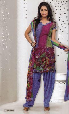 Dress Material Elegant French Crepe Printed Unstitched Salwar Kameez Suit D.No 5071