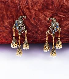 Stylish Multicolor Peacock  Tassel Jhumki Earrings