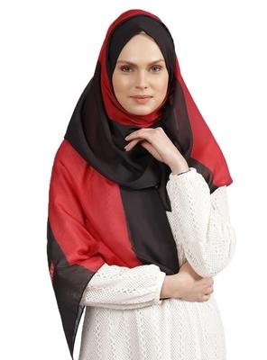 Women's Red Color Casual Wear BSY Magic Fabric Hijab Scarf Dupatta