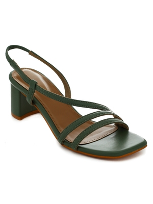 Trends & Trades Women's Party Block Heel Sandal_Green
