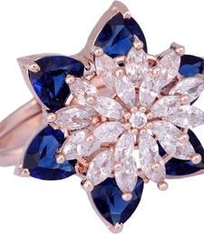 Blue cubic zirconia rings