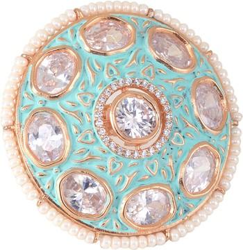 Gold cubic zirconia rings