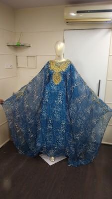 MOROCCAN DUBAI KAFTAN ABAYA DRESS FANCY LONG GOWN BEACH WEAR TIGER PRINT 2400